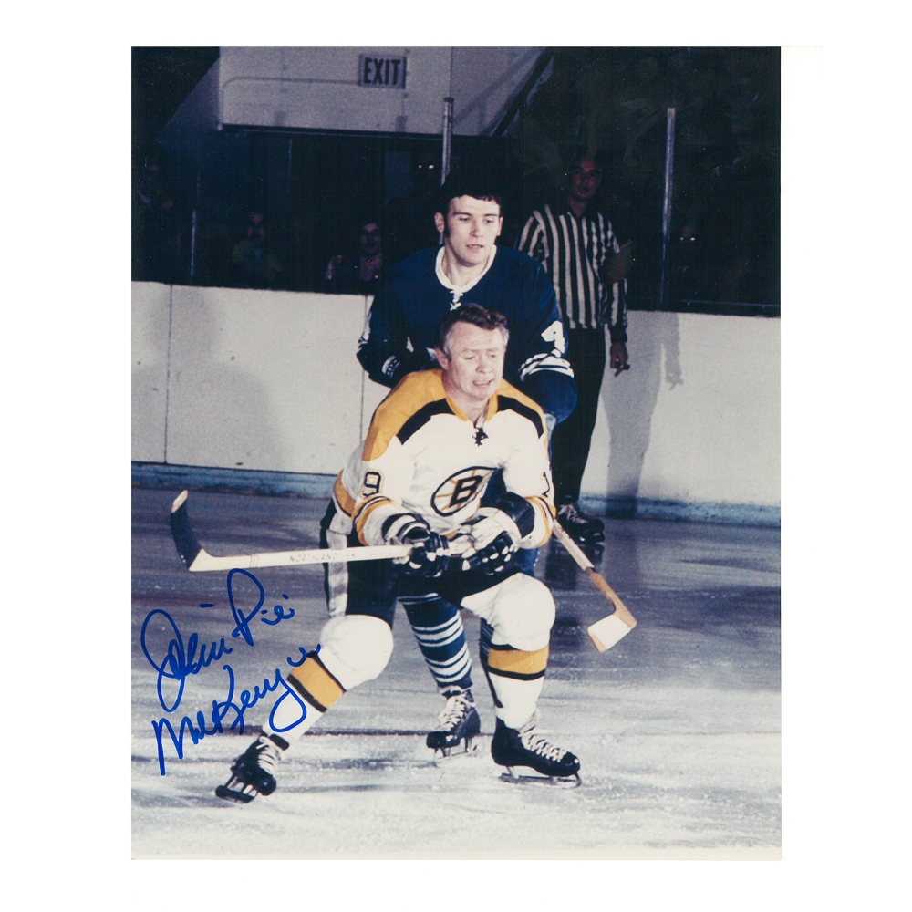 JOHN MCKENZIE Signed Boston Bruins 8 X 10 Photo - 70064