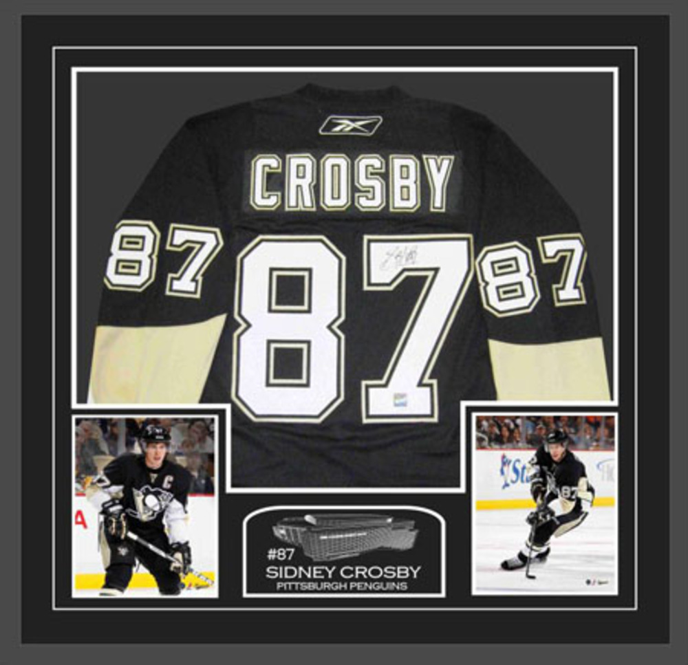 Signed and Framed Sidney Crosby Pittsburgh Penguins Jersey - Black #87-438