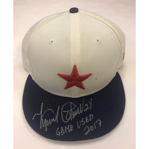 Autographed Game-Used 2017 Miguel Cabrera Detroit Stars Cap