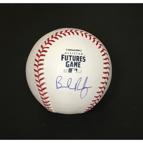 Photo of Brendan Rodgers Autographed 2018 Futures Game Baseball