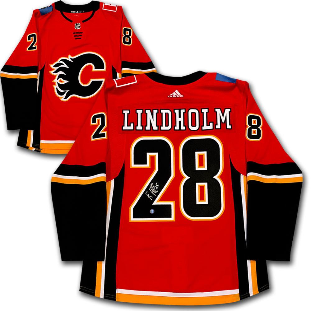 Elias Lindholm Autographed Calgary Flames adidas Pro Jersey