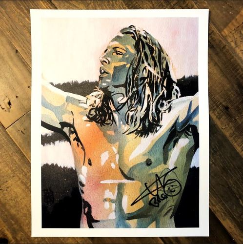 Photo of Matt Riddle SIGNED 11 x 14 Rob Schamberger Print