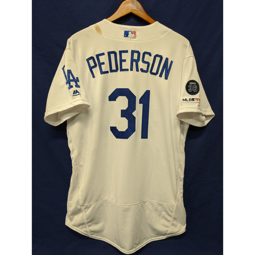 Photo of Los Angeles Dodgers Joc Pederson Game-Used Home Jersey - 5/31/19 - 17th Home Run of 2019