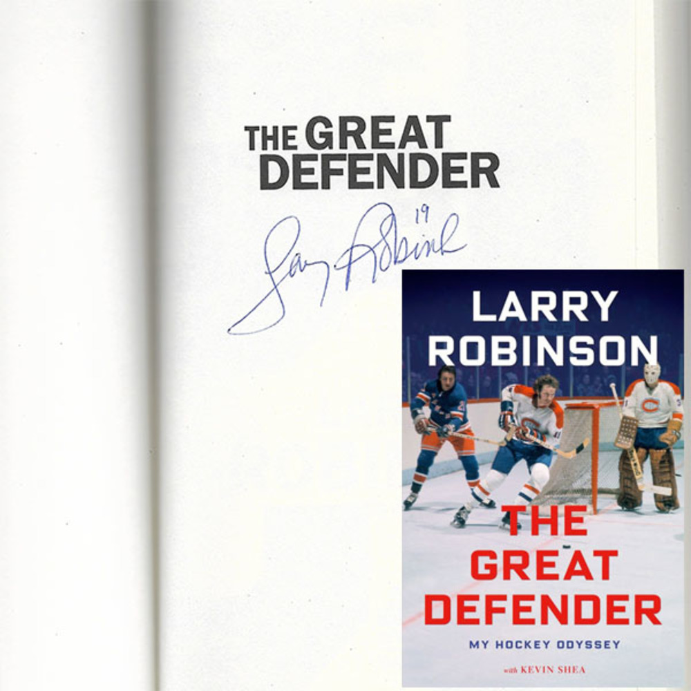 Larry Robinson Autographed Hardcover Book - THE GREAT DEFENDER