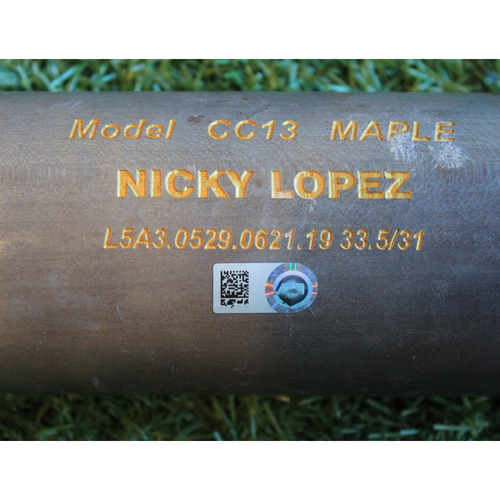 Game-Used Broken Bat: Nicky Lopez Ground Out (KC @ DET - 8/9/19)