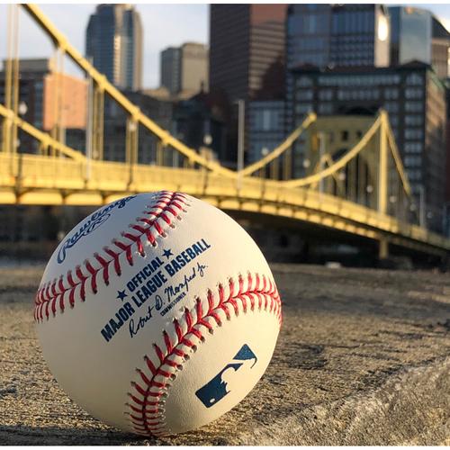 Photo of Game-Used Baseball: 5/25/2019 - B3, Starling Marte - Single, Josh Bell - Single, Bryan Reynolds - Strikeout