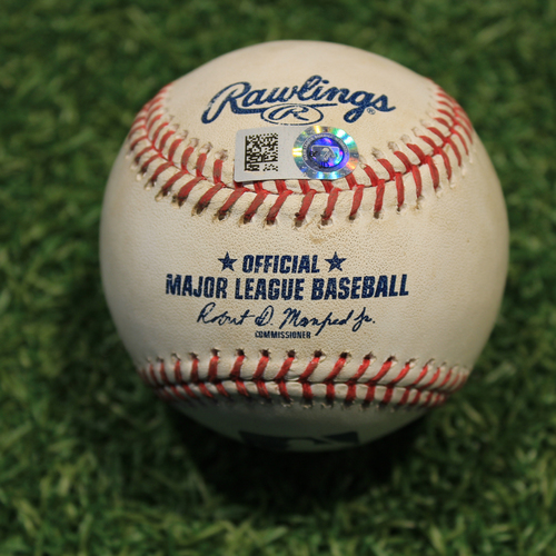 Photo of Game-Used Baseball: Francisco Lindor 878th Career Double (CLE @ KC 9/2/20)