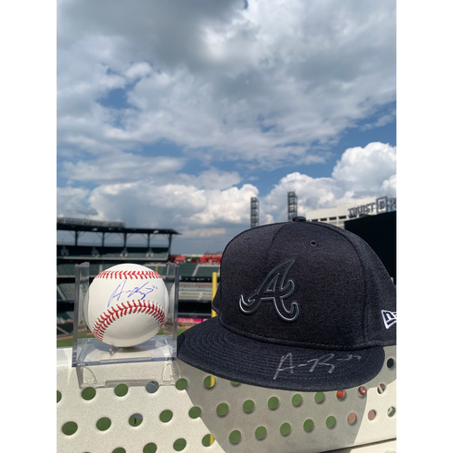 Photo of Austin Riley MLB Authenticated Autographed 2019 Players Weekend Style Hat and Baseball, Combo