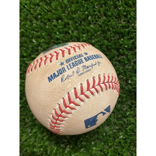 Photo of Dansby Swanson Hit Double Baseball off JP Feyereisen - July 17, 2021