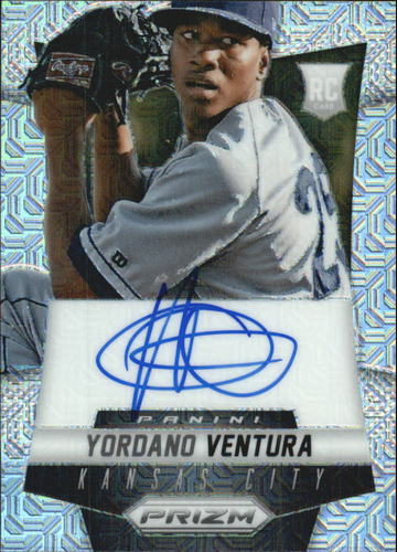 Photo of 2014 Panini Prizm Rookie Autographs Prizms Mojo #YV Yordano Ventura
