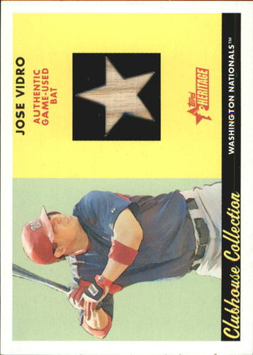 Photo of 2007 Topps Heritage Clubhouse Collection Relics #JV Jose Vidro Bat B