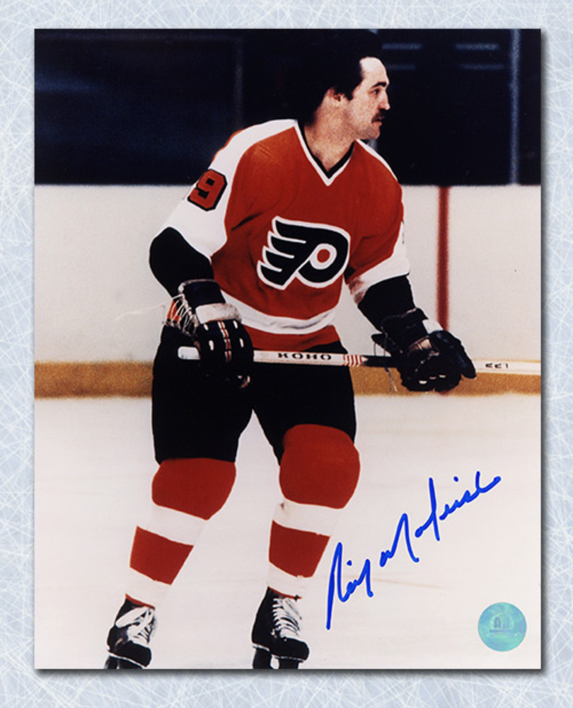 Rick Macleish Philadelphia Flyers Autographed Game Action 8x10 Photo