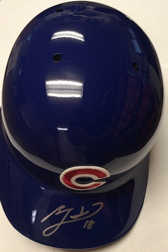 Photo of Ben Zobrist Autographed Cubs Helmet