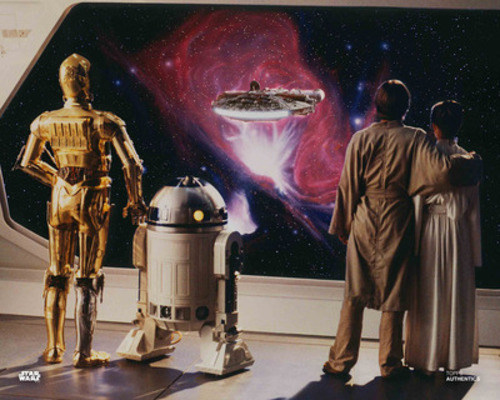 C-3PO, R2-D2, Luke Skywalker and Princess Leia Organa