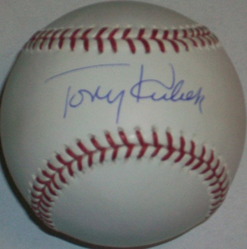 Photo of Tony Kubek Autographed Baseball