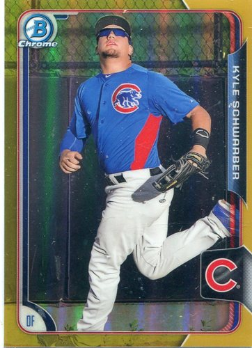 Photo of 2015 Bowman Chrome Prospects Gold Refractors Kyle Schwarber 09/50
