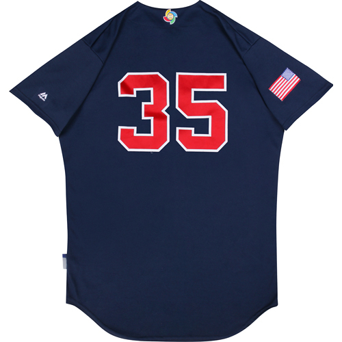 2017 WBC: USA Game-Used Batting Practice Jersey, Eric Hosmer #35