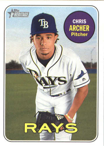 Photo of 2018 Topps Heritage #286 Chris Archer