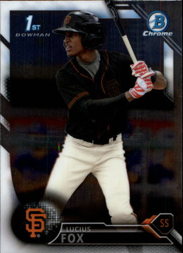 Photo of 2016 Bowman Chrome Prospects #BCP13 Lucius Fox