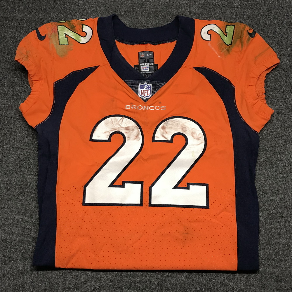 NFL Auction | STS - Broncos C.J. Anderson game worn Broncos jersey ...