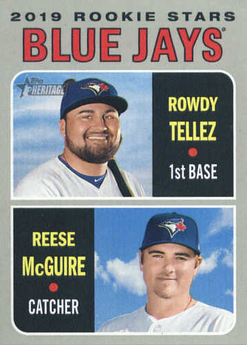 Photo of 2019 Topps Heritage #109 Rowdy Tellez RC/Reese McGuire RC