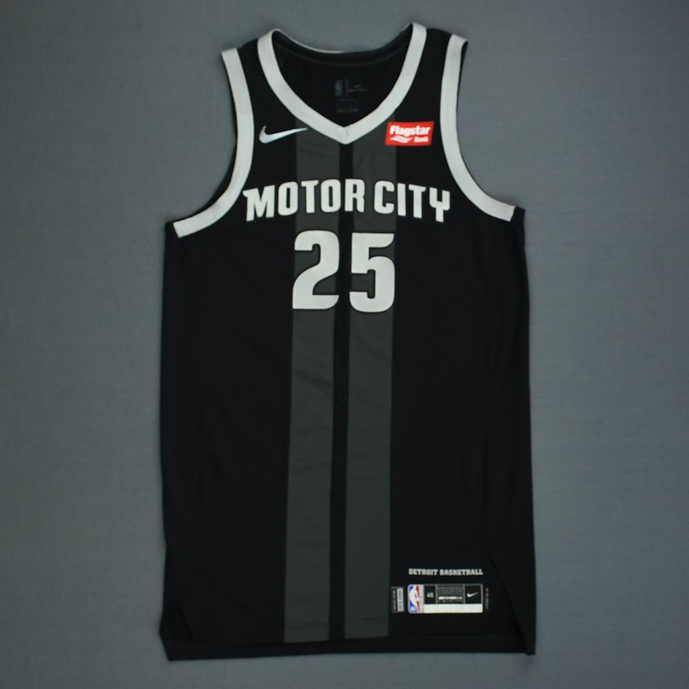 sports shoes a3f46 ec8df Reggie Bullock - Detroit Pistons - Game-Worn City Edition ...
