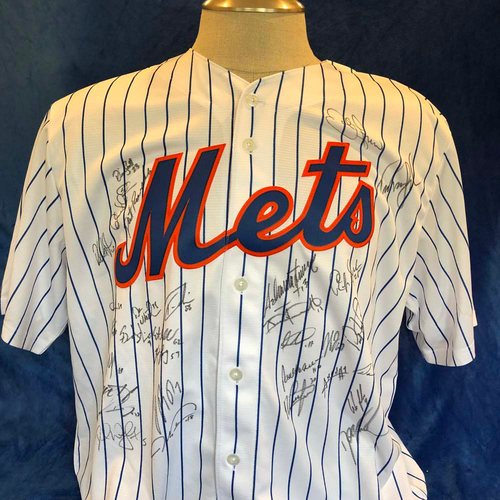 Photo of UMPS CARE AUCTION: Multiple Mets Signed Jersey, Size XL