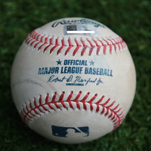 Photo of Game-Used Baseball: Cody Gearrin Pitched Strike Out to Terrance Gore (CLE @ KC - 4/11/19)
