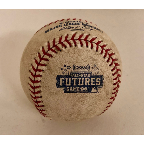 Photo of 2006 All Star Futures Game - Game Used Baseball - Batter: Carlos Gonzalez Pitcher: Matt Lindstrom - 7th Inning - Foul