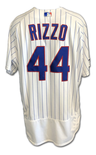 Photo of Anthony Rizzo Game-Used Jersey -- Rizzo Collects 3 Hits -- Cardinals vs. Cubs -- 9/21/19 -- Size 50