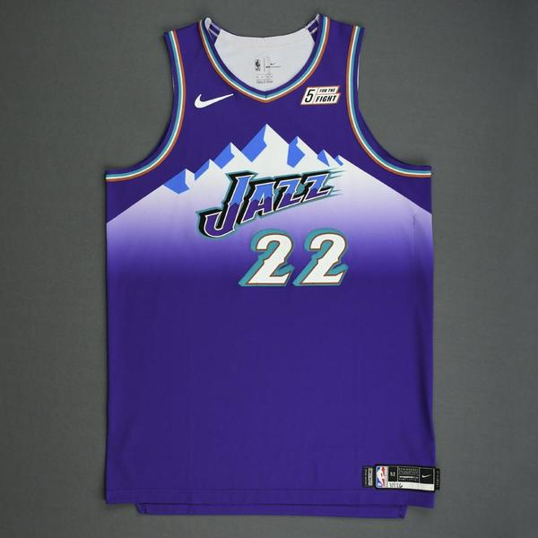 Image of Jeff Green - Utah Jazz - Game-Worn Classic Edition 1996-04 Road Jersey - 2019-20 Season