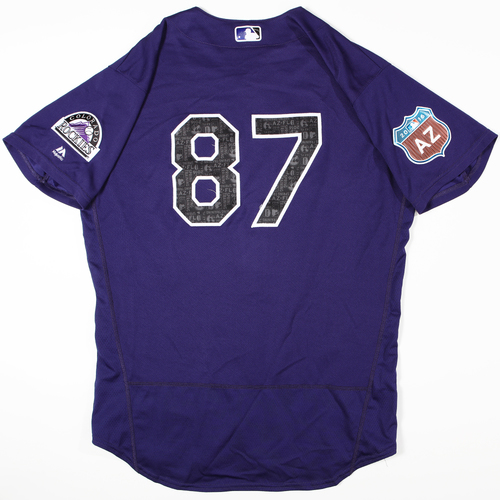 Photo of 2016 Spring Training - Spring Training Game Used Jersey - Tony Wolters (Rockies)- Size- 46