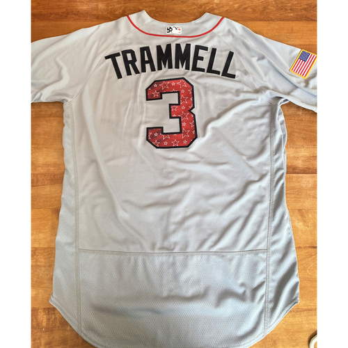Photo of Alan Trammell Team Issued Stars and Stripes Detroit Tigers #3 Jersey With American Flag Patch (MLB AUTHENTICATED)