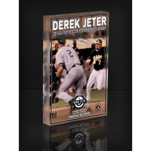 "Photo of MLB AUCTIONS EXCLUSIVE: Derek Jeter HOF ""The Flip"" Acrylic Block Collection #5 - Series of 7!"