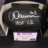 HOF - Steelers Dermontti Dawson Signed NFL Auction Exclusive Commemorative Hall of Fame Football W/ 100 Seasons Logo