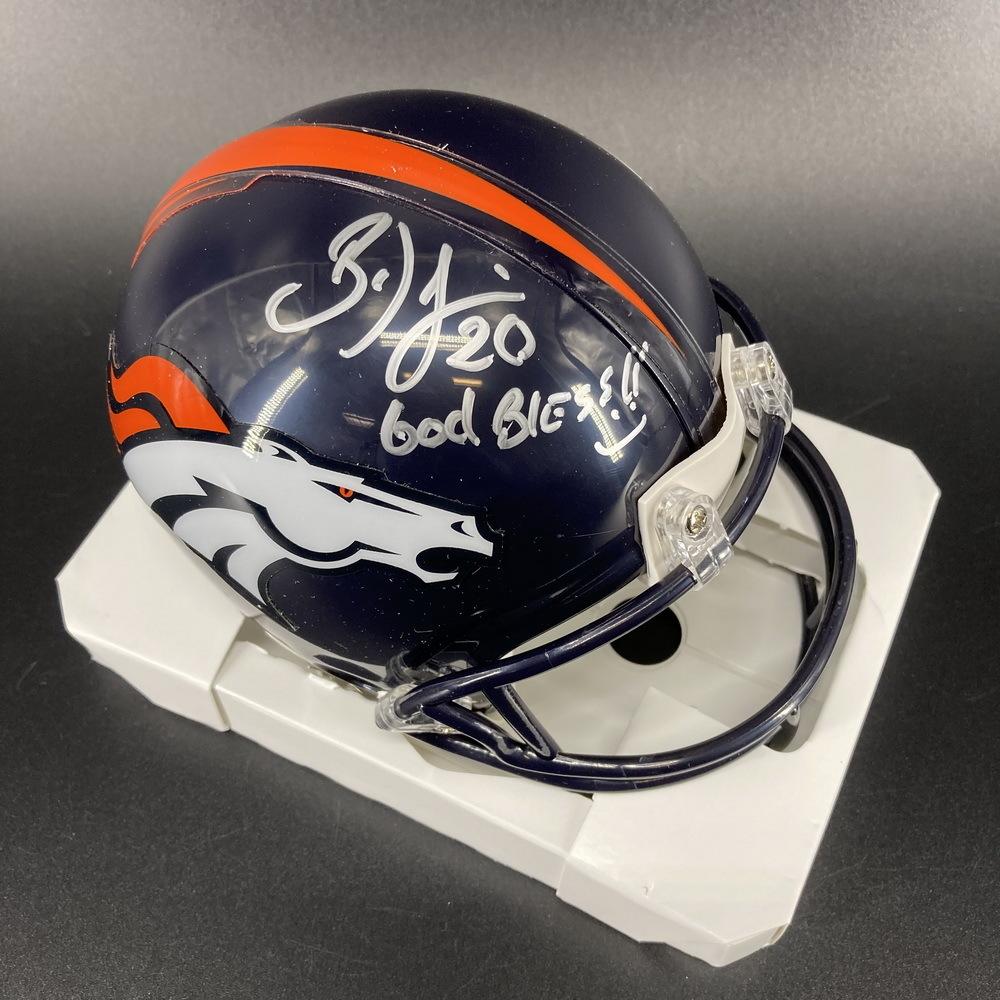 PCC - Broncos Brian Dawkins Signed Mini Helmet