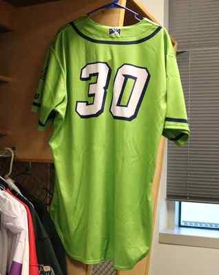 Stockton Ports Rico Brogna Asparagus jersey, #30, Size 50