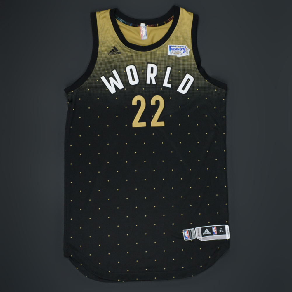 Andrew Wiggins - 2016 BBVA Compass Rising Stars Challenge - Team World -  Game-Worn 50b654233