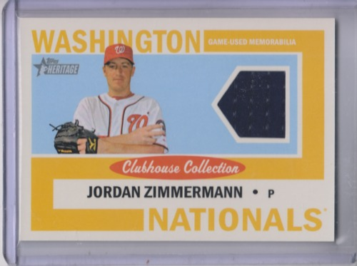 Photo of 2013 Topps Heritage Clubhouse Collection Relics #JZ Jordan Zimmermann