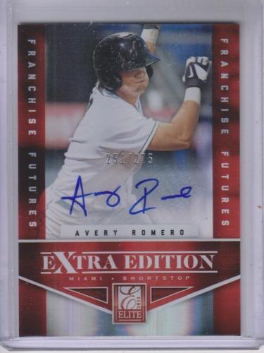 Photo of 2012 Elite Extra Edition Franchise Futures Signatures #32 Avery Romero/275