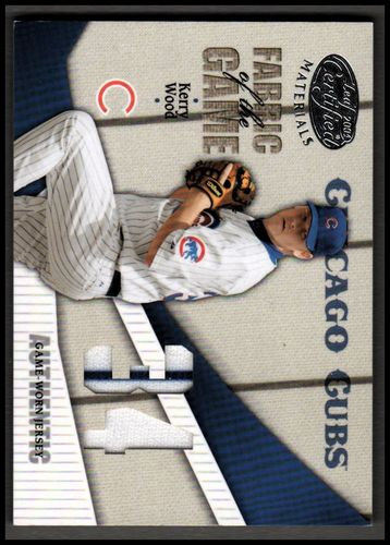 Photo of 2004 Leaf Certified Materials Fabric of the Game Jersey Number #174 Kerry Wood 22/34