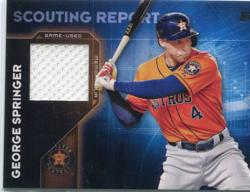 Photo of 2016 Topps Scouting Report Relics  George Springer -- 2018 All-Star