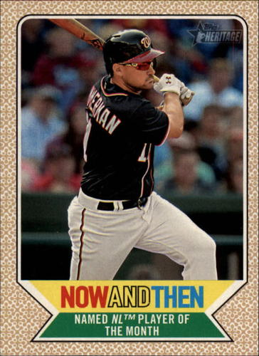 Photo of 2017 Topps Heritage Now and Then #NT15 Ryan Zimmerman