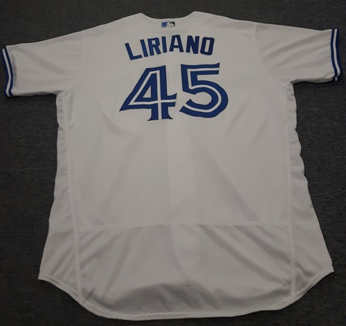 Photo of Authenticated Game Used Jersey - #52 Francisco Liriano (July 28, 2017). Size 52.