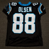 PANTHERS - GREG OLSEN SIGNED AUTHENTIC PANTHERS JERSEY - SIZE 52