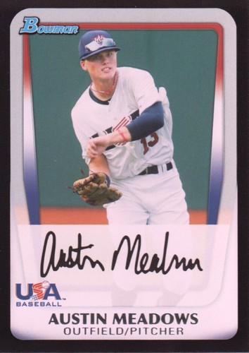Photo of 2011 Bowman Draft Prospects #BDPP100 Austin Meadows -- Pre-Rookie Card