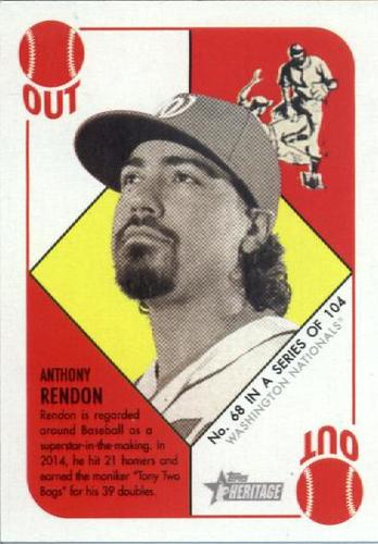 Photo of 2015 Topps Heritage '51 Collection #68 Anthony Rendon