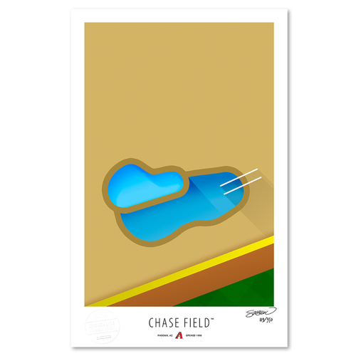 Photo of Chase Field - Collector's Edition Minimalist Art Print by S. Preston #119/350  - Arizona Diamondbacks