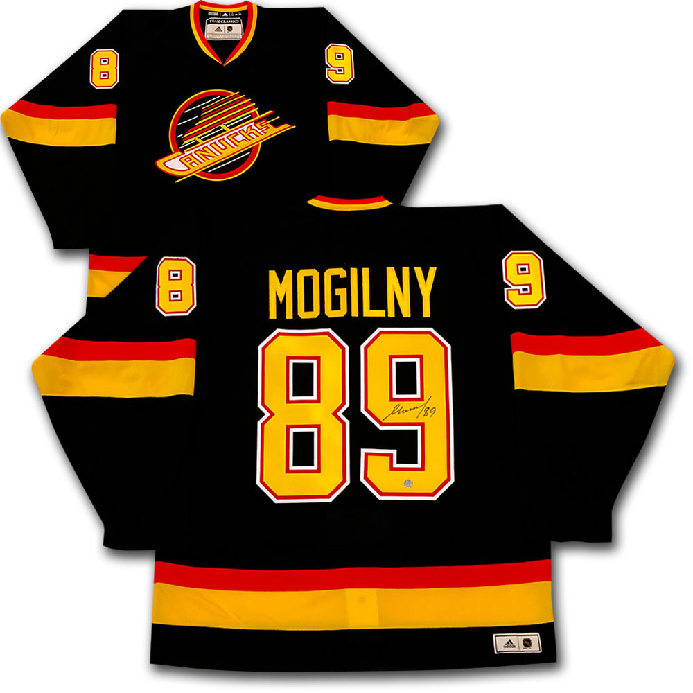 Alexander Mogilny Autographed Vancouver Canucks adidas Team Classics Authentic Vintage Jersey