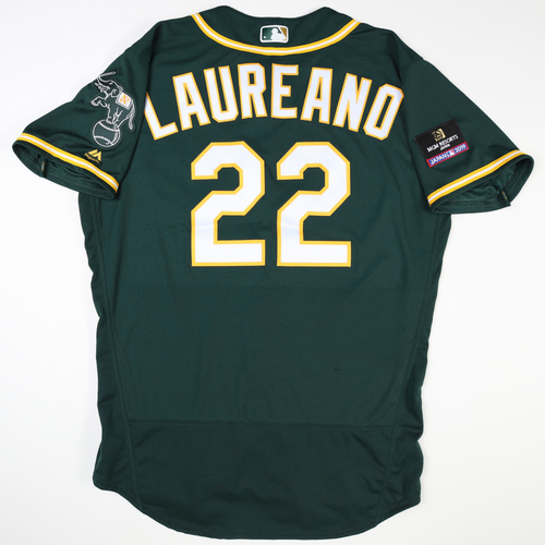 Photo of 2019 Japan Opening Day Series - Game Used Jersey - Ramon Laureano, Oakland Athletics at Nippon Ham Fighters -3/17/2019